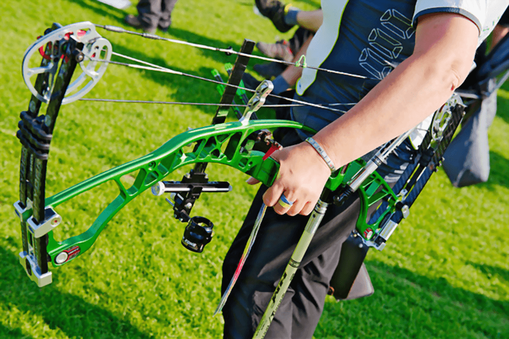 bow string of a compound bow