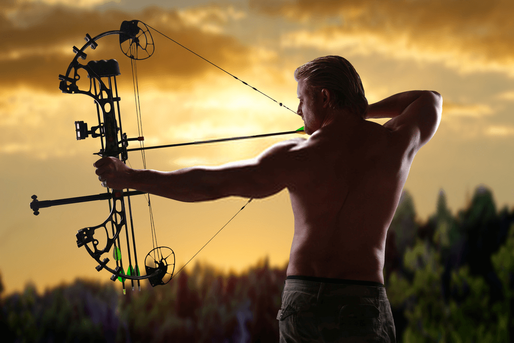 Hunting with compound bow