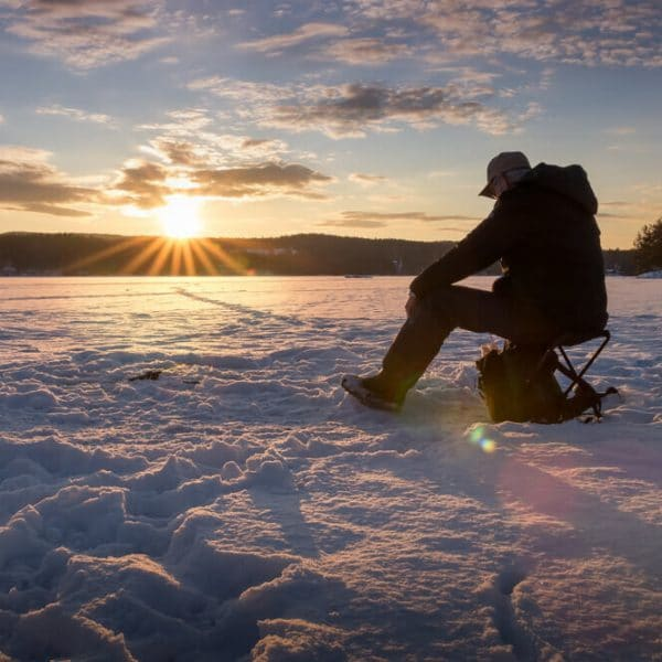 best ice fishing rod and fisherman